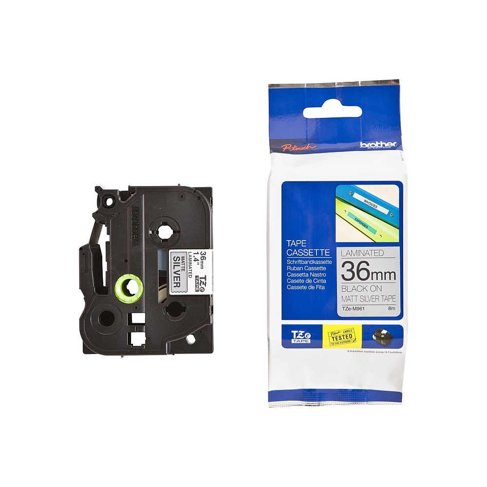 Konsumativ-Brother-TZe-M961-Tape-Black-on-Silver-BROTHER-TZEM961