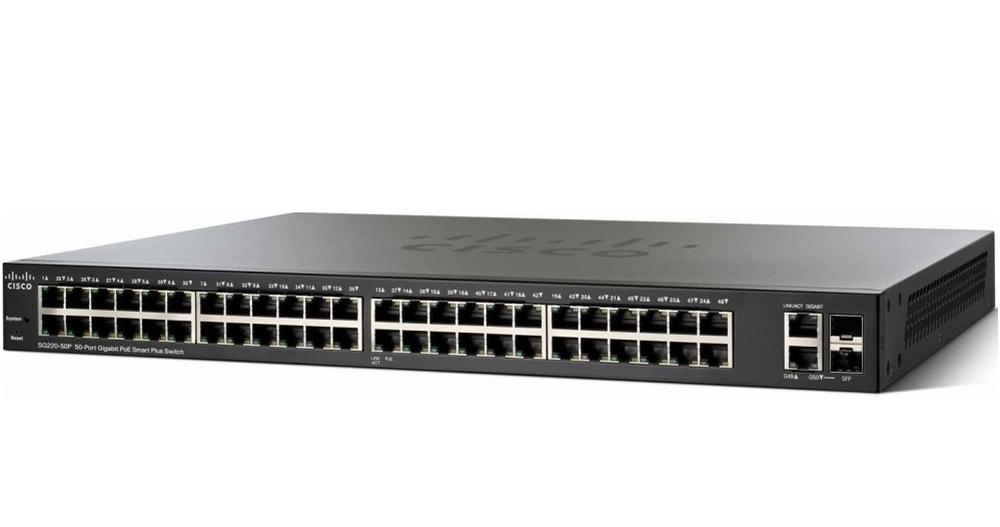 Komutator-Cisco-SG220-50P-50-Port-Gigabit-PoE-Smar-CISCO-SG220-50P-K9-EU