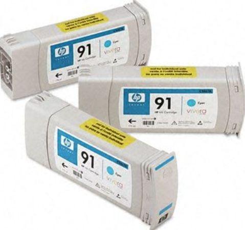 Konsumativ-HP-91-3-pack-775-ml-Cyan-Ink-Cartridges-HP-C9483A