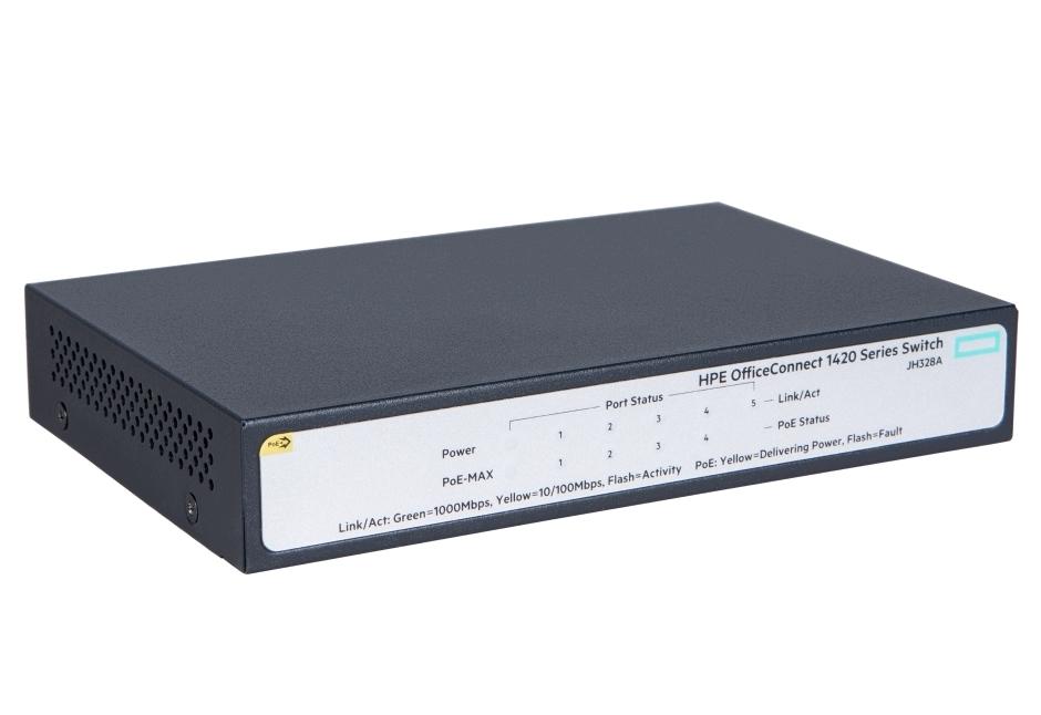 Komutator-HPE-1420-5G-PoE-32W-Switch-HPE-JH328A